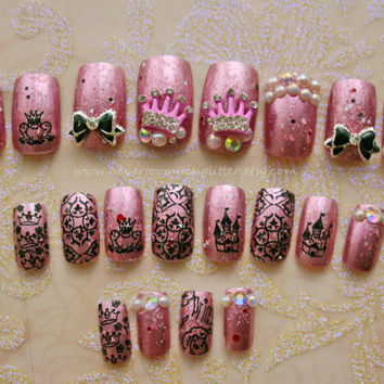 Anese Nail Art Cute Fake Nails Kawaii False