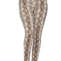 Cold Blooded Snake Skin Print Leggings