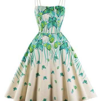 Wild Butterlies A-Line Summer Dress