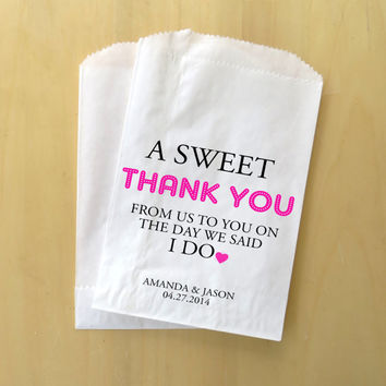Custom Wedding Favor Bags ~ Personalized Treat Bags, Wedding Candy Buffet Bags, Candy Bags, Candy Bar Buffet Bag, Paper Bags