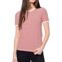 Obey Mitchell Ringer Red T-Shirt