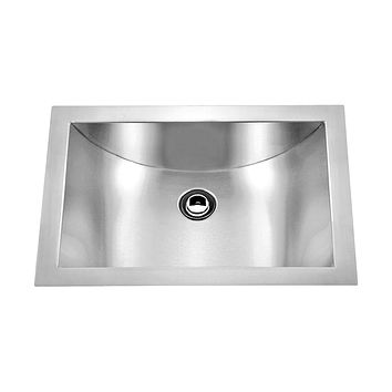 DAX-SQ-114 / DAX HANDMADE SINGLE BOWL UNDERMOUNT KITCHEN SINK, 18 GAUGE STAINLESS STEEL, BRUSHED FINISH