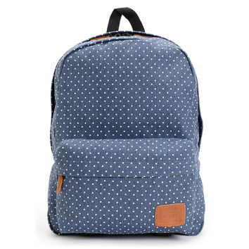 Vans Deana Polka Dot Print Blue Backpack at Zumiez : PDP