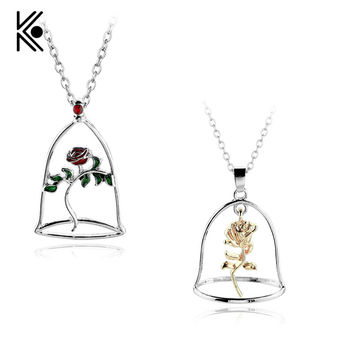 Beauty and the Beast Rose Necklaces & Pendants for Women