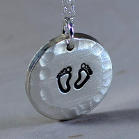 sterling silver charm necklace for new mom