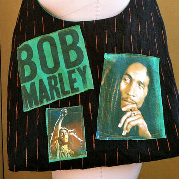 Bob Marley Bag Upcycled Band Tshirt Purse by TheCollectiveChaos
