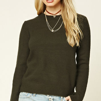 Heather Knit Sweater Top