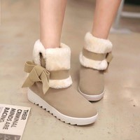Hot Deal On Sale Korean Flat Casual Boots [11593332231]