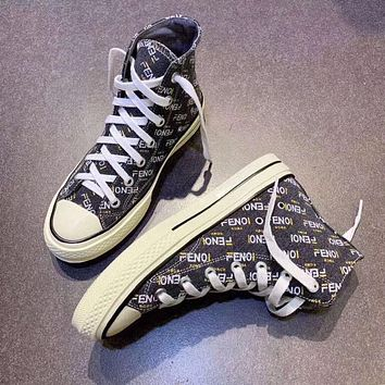 FENDI Women Letter recreational sneakers