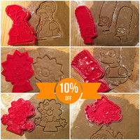 The Simpsons Characters Collection (Set) cookie cutters - Plastic 3d printed (PLA)