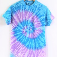 Purple and Blue Tie-Dye Unisex Tee
