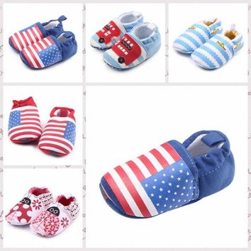 Baby Boy Girl Crib Shoes Newborn Infant Soft Sole Toddler Shoes Prewalkers 0-12M