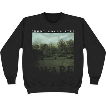 Front Porch Step Men's  Aware Sweatshirt Black Rockabilia