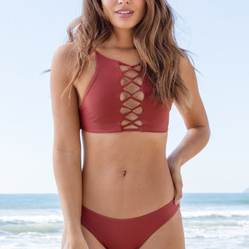 Stone Fox Swim - Iver Top | Red Sand