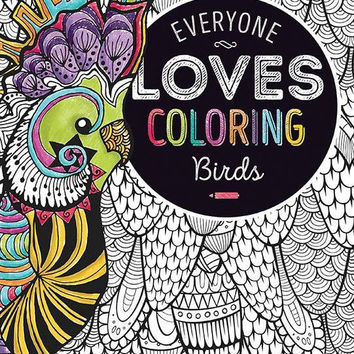 birds adult coloring book Case of 24