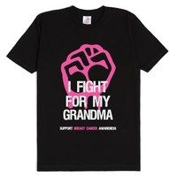 Breast Cancer Shirt - Fight For Grandma-Unisex Black T-Shirt