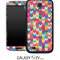 Color Knitting Skin for the Samsung Galaxy S4, S3, S2, Galaxy Note 1 or 2