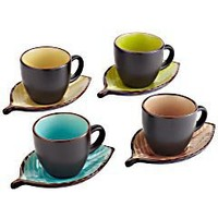 Product Details - Leaf Teacup & Saucer - set of 4