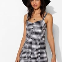 Motel Avril Gingham Button-Front Dress - Urban Outfitters