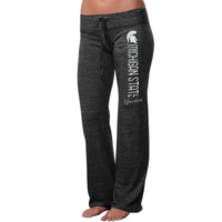 Michigan State Spartans Ladies Distressed Heathered Tri-Blend Pants - Black