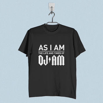 Men T-Shirt - As I Am The Life and Times of DJ Am