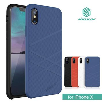for iPhone X Nillkin Flex Liquid Silicone Phone Case TPU Soft Back Cover Case for iPhone X 10 Capa Shell with Retail Package
