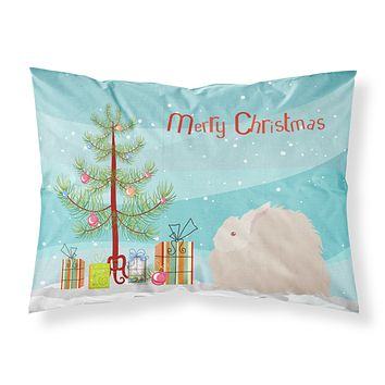 Fluffy Angora Rabbit Christmas Fabric Standard Pillowcase BB9326PILLOWCASE