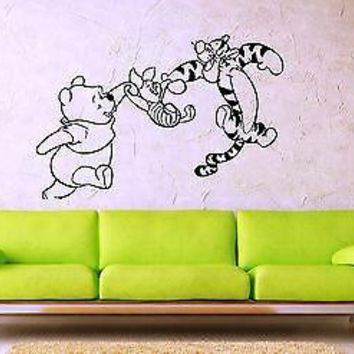 Wall Stickers Vinyl Decal Nursery Winnie The Pooh Cartoon Nursery Baby Unique Gift (ig1057)