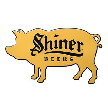 Shiner Beers Pig Die-Cut Sign