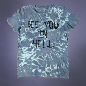 See You In Hell Slogan Tee Soft Grunge Punk Alternative Clothing Satanic Witch Going To Hell Tumblr T-shirt