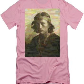 Portrait Of A Navajo Youth 1 - Men's T-Shirt (Athletic Fit)