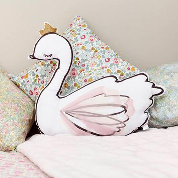 Novelty Dance Girl Soft Toy Swan Plush Cushion&Pillow Home Decoration Pillow Baby Appease Doll with Music Kids Toys Girls Gift