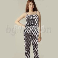 HOT Women's Pleated Jumpsuit Overall Trousers Pants NEW Free Shipping!  - US$15.98