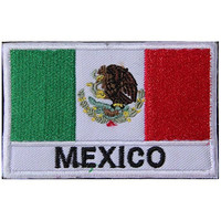 Mexico MEX Flag Embroidered Patch Velcro For Sport Outdoor Army Baseball Hats