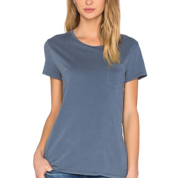 AG Adriano Goldschmied Quinn Pocket Tee in Pigment Dusty Blue