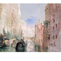 A Canal Near the Arsenale, Venice Giclee Print by William Turner at Art.com
