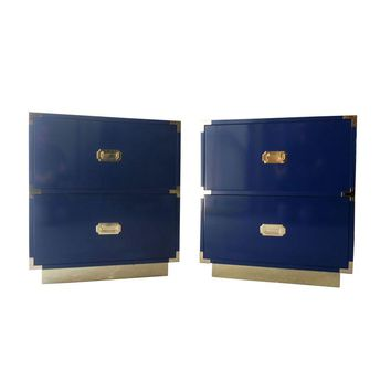 Pre-owned Made-To-Order Campaign Nightstands