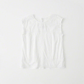 Womens Embroidered Shell | Womens Tops | Abercrombie.com