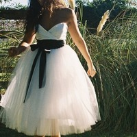 Sweetheart Crossover Wedding Dress  Allison by ouma on Etsy