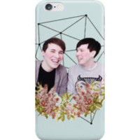 Dan and Phil Pastel Floral & Constellation Print by cattalack