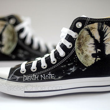 Painted Converse Manga Anime Shoes Personalized Pained Shoes High Top Sneakers Womens Mens Converse Shoes Personalized Mens Womens Gift