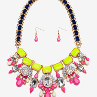 Lux Peony Statement Necklace