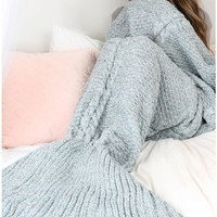 Mermaid Blanket (Grey)