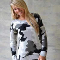 Heavy Metal Camo Sweater