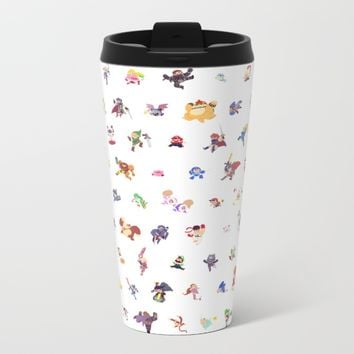 Smashing Metal Travel Mug by Paperbeatsscissors