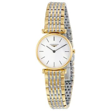 Longines La Grande Classique White Dial Two Tone Stainless Steel Ladies Watch