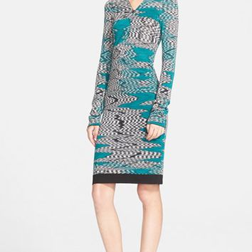 Women's Missoni Front Zip V-Neck Knit Dress,