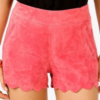 Faux Suede Scalloped Shorts | FOREVER 21 - 2040969803
