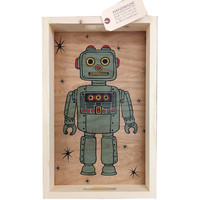 Robot Wood Serving Tray