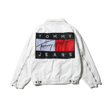 """Tommy Hilfiger"" Men Denim Cardigan Jacket Coat"